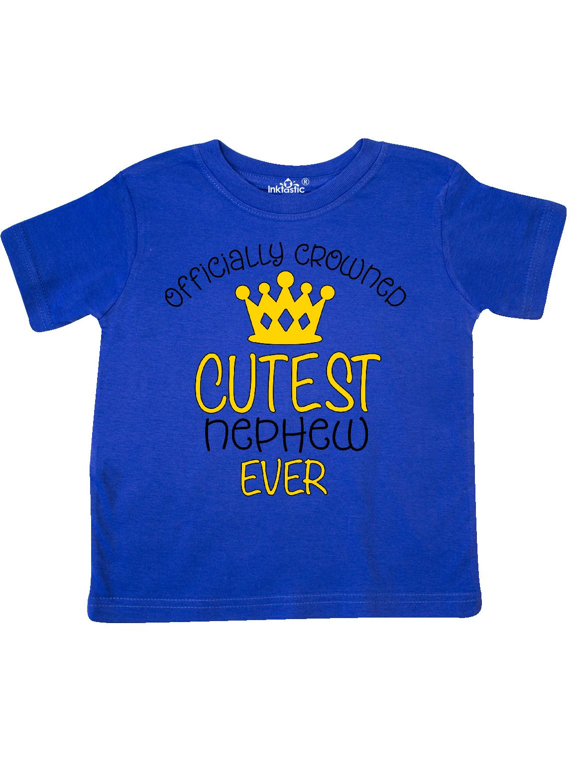 Officially Crowned Cutest Nephew Ever gold crown Toddler T-Shirt