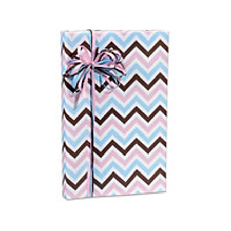 Gender Reveal Boy Girl Baby Chevron Birthday Special Occasion Gift Wrap Wrapping Paper 16ft