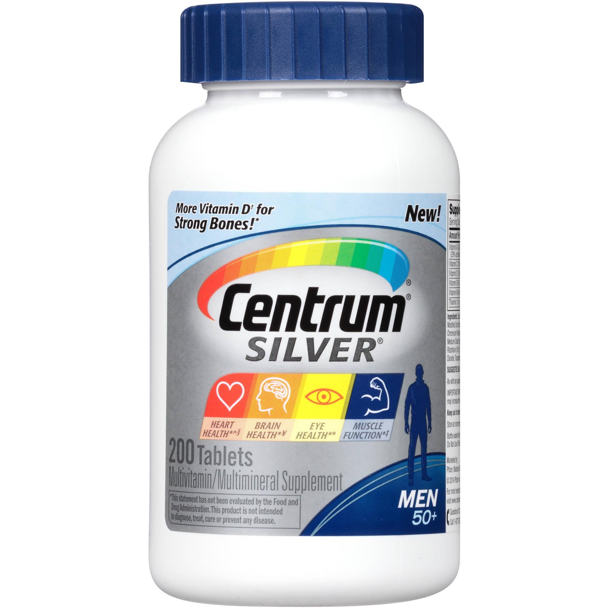 Centrum Silver Men Multivitamin/Multimineral Supplement 200 Count