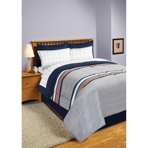 In Style Rugby Stripe Bed in a Bag Bedding Set