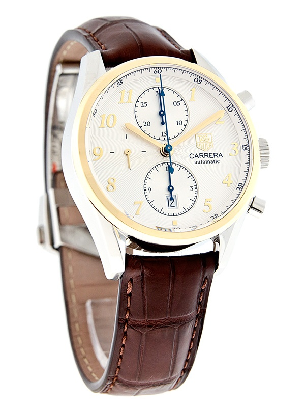 TAG Heuer Carrera Heritage Steel 18K Gold Automatic Mens Watch  CAS2150.FC629