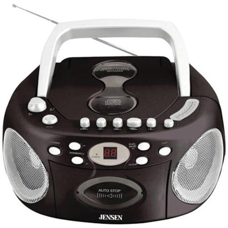 Jensen CD-540 Portable Stereo Compact Disc Cassette Recorder with AM FM Radio by