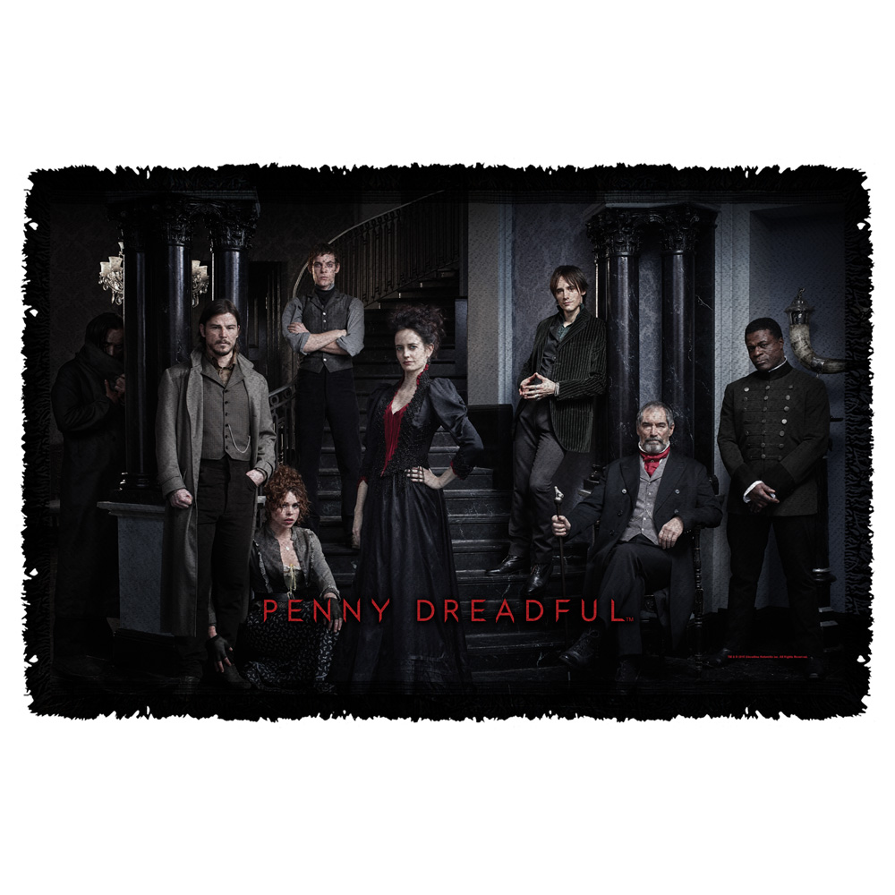 Penny Dreadful Stair Cast Woven Throw Tapestry 36X60 White One Size