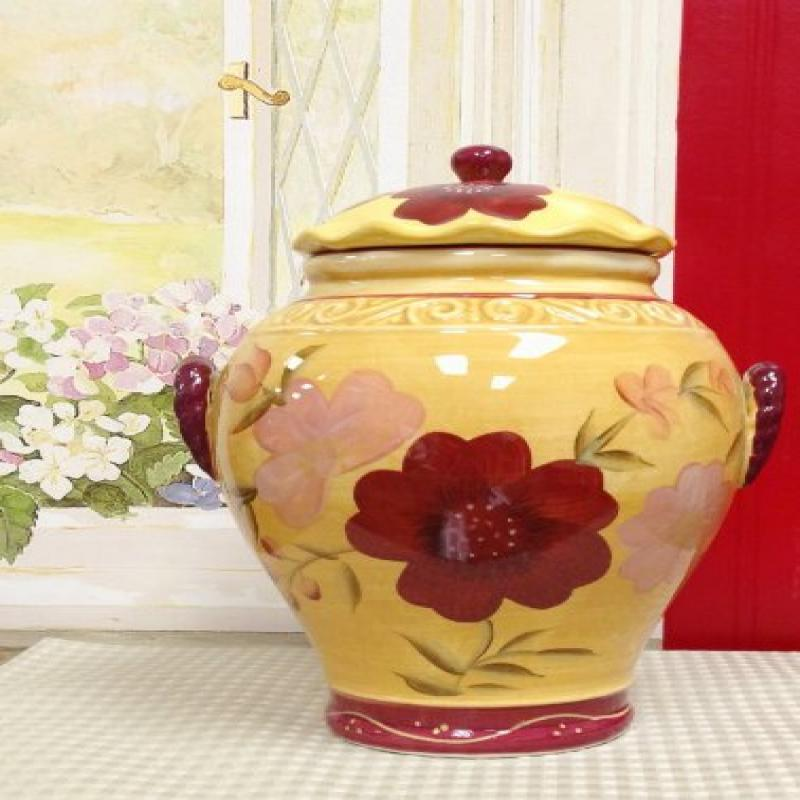 ACK COOKIE JAR, CANISTER SET, TUSCANY GARDEN DECOR