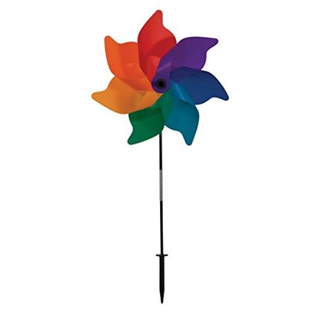 In the Breeze Rainbow Poly Petal Pinwheel Spinner, 18-Inch](Rainbow Pinwheel)