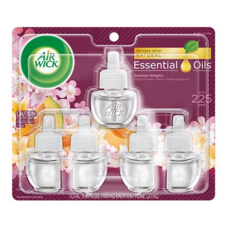Scent Refill - Air Wick Life Scents Scented Oil 5 Refills, Summer Delights (5X0.67oz), Air Freshener