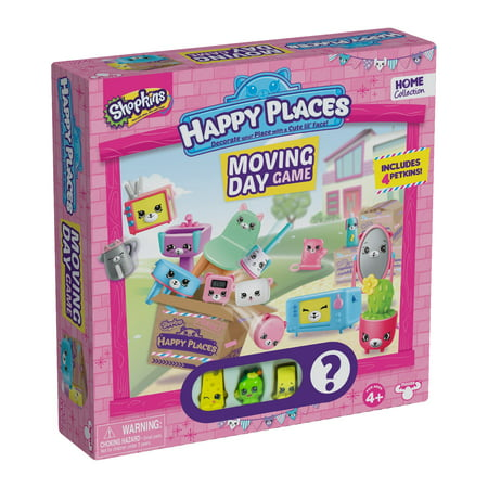 Pressman Toy  Shopkins Happy Places Moving Day Game - Shokins Games