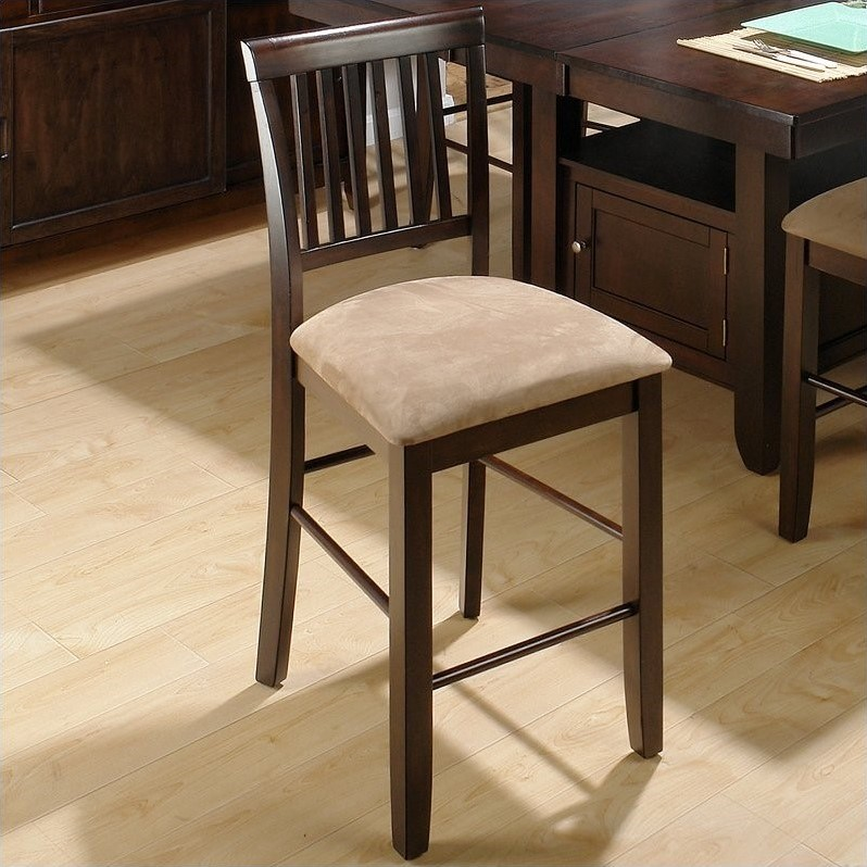 "Jofran 373 Series 23.5"" Stool in Baker's Cherry (Set of 2) by Jofran"