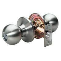 Master Lock Door Lock BAO0115 Ball Style Door Knob, Satin Nickel