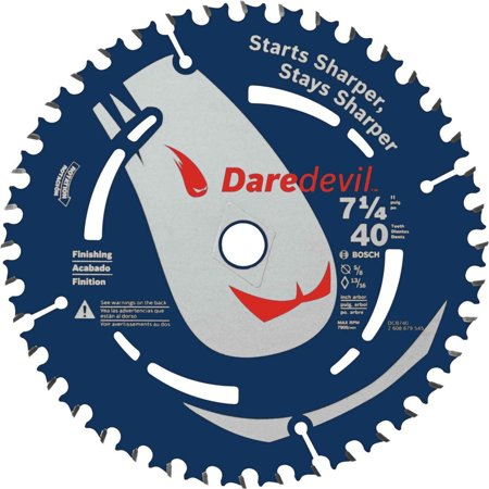 40 Tooth Finish (Bosch DCB740 Daredevil 7-1/4 in. 40 Tooth Fine Finish Circular Saw Blade)