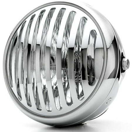 """Krator 7"""" Chrome Vintage Antique Style Grill Prison Chopper Motorcycle Bobber Headlight For Yamaha Royal Star Venture Classic Royale Deluxe - image 6 of 6"""