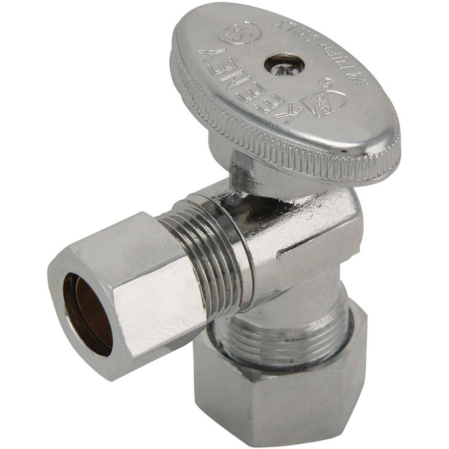 "Keeney 2624PCLF 5/8"" x 1/2"" Angle Quarter Turn Valve"