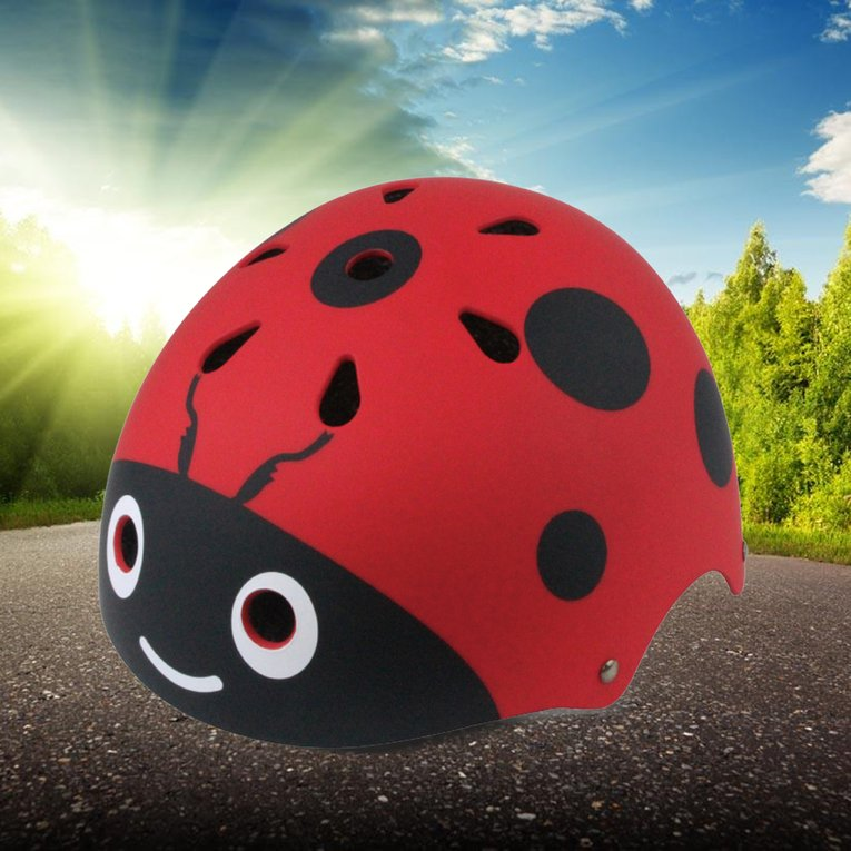 Red Ultralight Bike Helmet Skateboard Protecting Helmet Cycling Helmet For Kids Riding A Cap by YKS