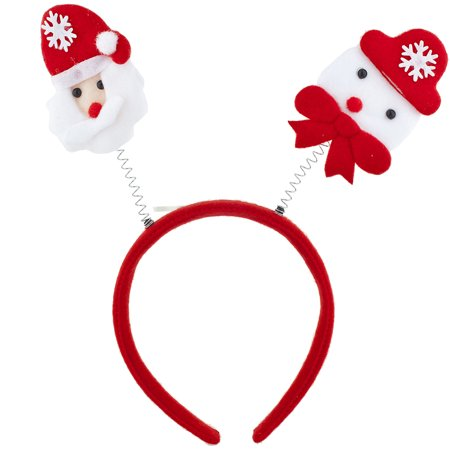 Lux Accessories Santa Christmas Holiday Ugly Sweater Party Bopper Headband - Head Boppers Wholesale