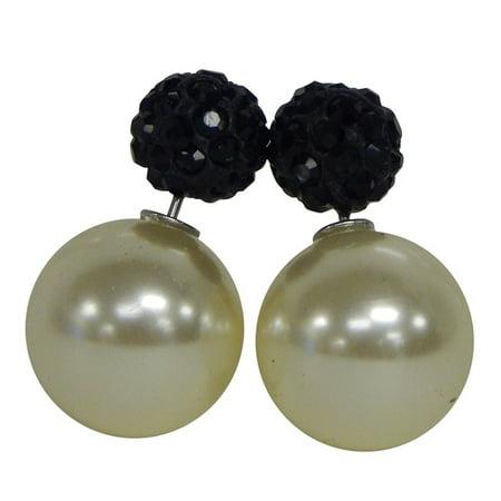 dee57d763 Beauté Fashion - Double Sided Front Back Peek A Boo Ball Stud Earrings -  Walmart.com