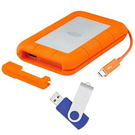 LaCie Rugged Thunderbolt USB 3.0 2TB External Hard Drive - Flash Transfer (Usb 3-0 Transfer Rate External Hard Drive)