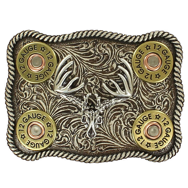 Nocona Men's Shotgun Shell Buck Buckle by MF Western
