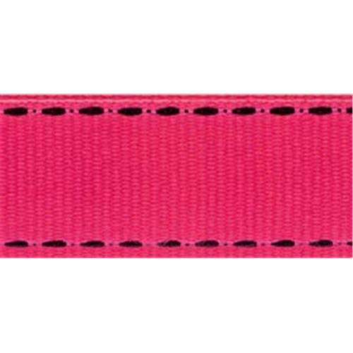 Offray 284414 Sidesaddle Ribbon . 63 inch 9 Feet-Shocking Pink-Black