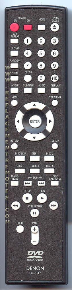 DENON REMOTE CONTROL # RC-947