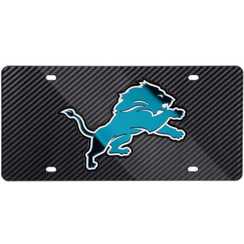 Detroit Lions Carbon Fiber License Plate