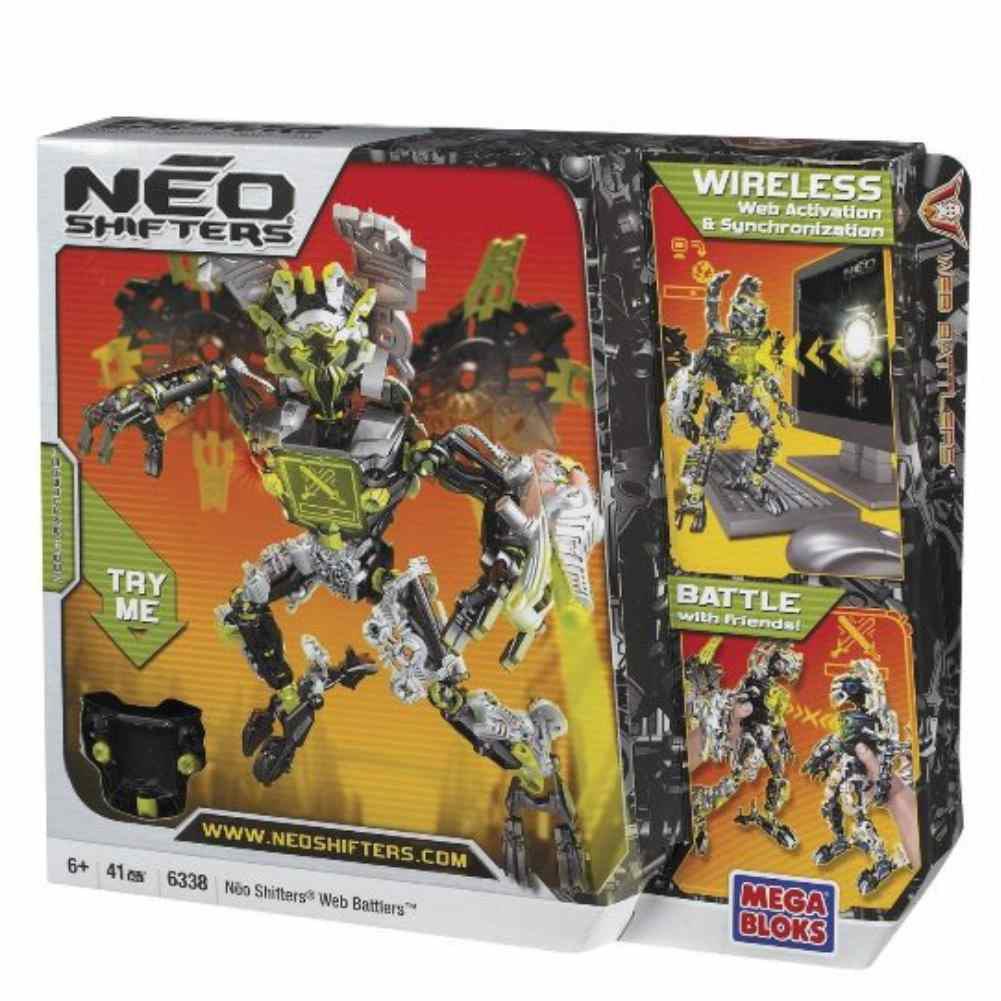 Mega Bloks WebBattler 1 Neon Green Neo Shifters Web Battlers 4 Skill Game Play