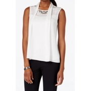 Laundry by Shelli Segal NEW White Women's 6 Embellished Tank Cami Top $50