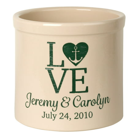 Personalized Love Anchor 2 Gallon Stoneware - Gallon Stoneware