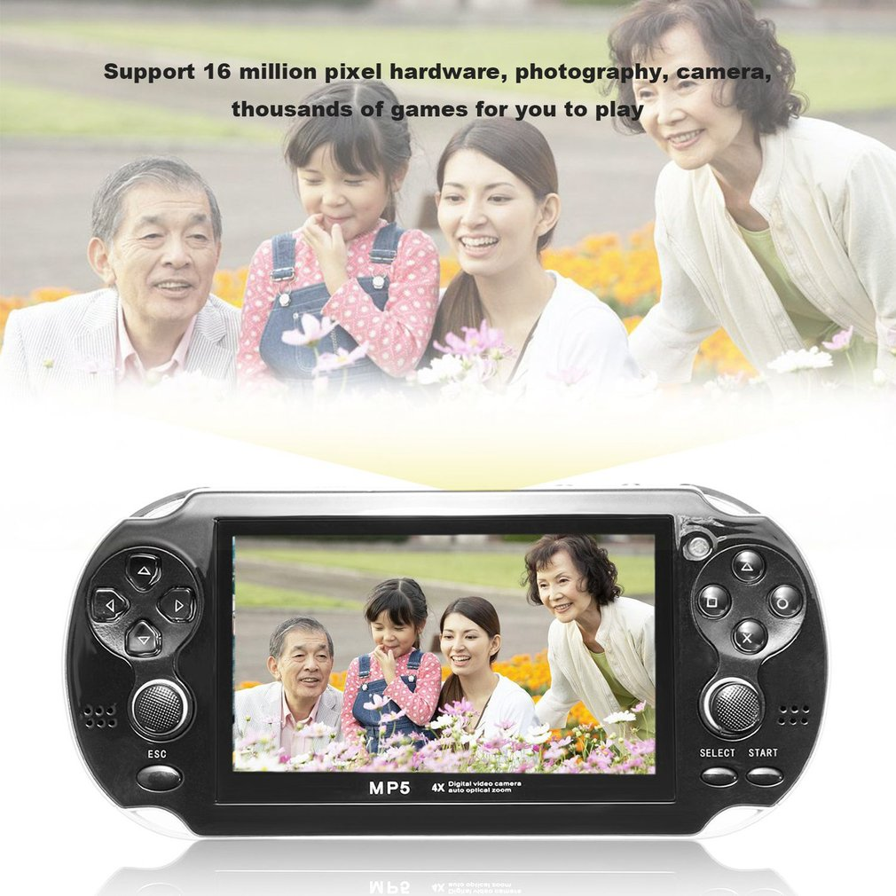 4.3inch Screen Game Console 8GB Memory Free Games Portable MP5 Game Player With Digital Video Camera Built-in Microphone