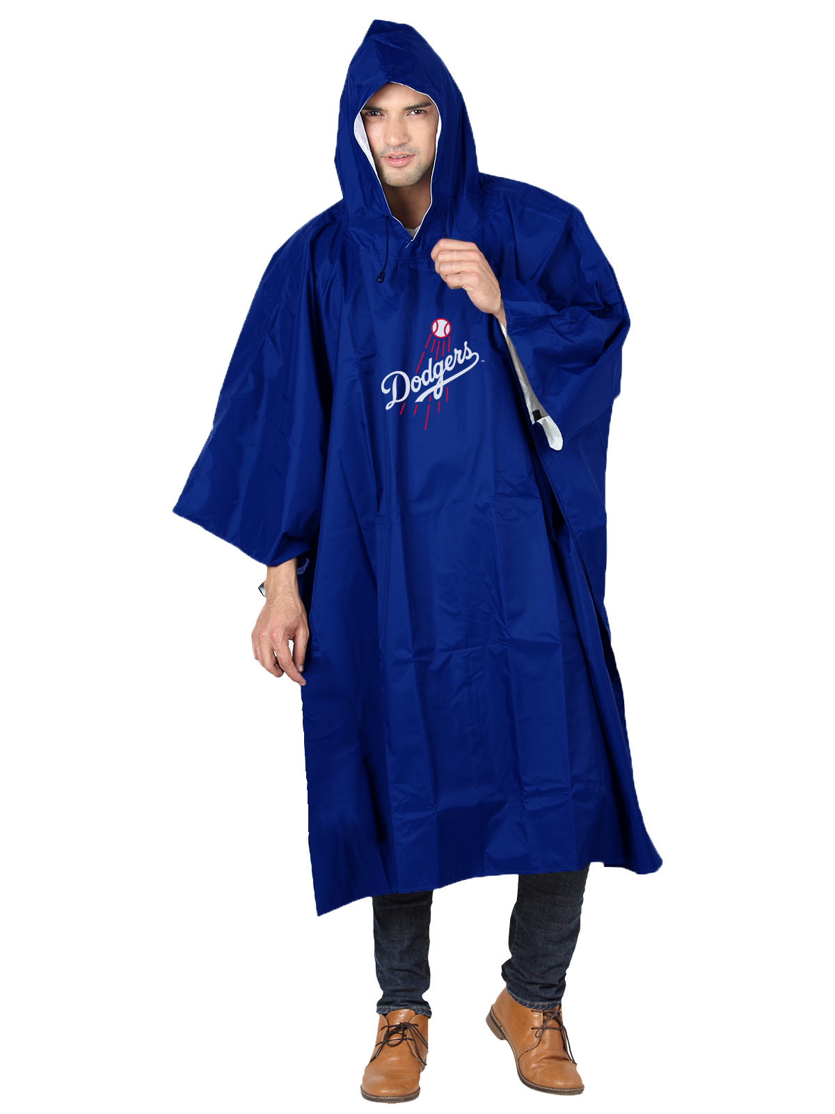 Click here to buy MLB Los Angeles Dodgers �Deluxe� 44�H x 49�W (Adult Size) Poncho by The Northwest Company.