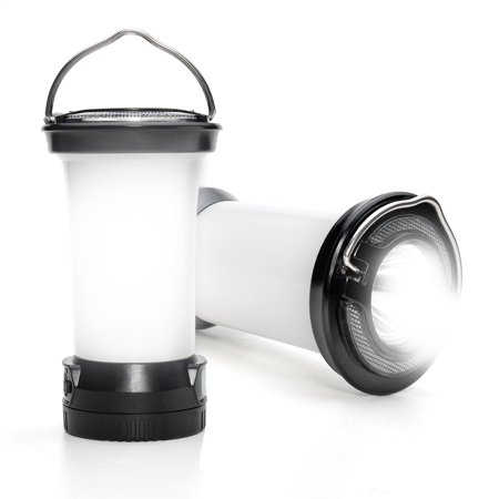 ODOLAND 2-In-1 LED Camping Lantern with Flashlights,  290 Lumens LED Lantern with SOS Flashlight , Best Gear for Outdoor Hiking, Camping and (Best Lantern Flashlight For Emergencies)