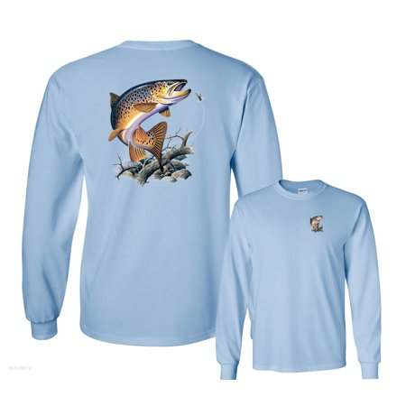 Brown Trout Going for Lure Fishing Long Sleeve
