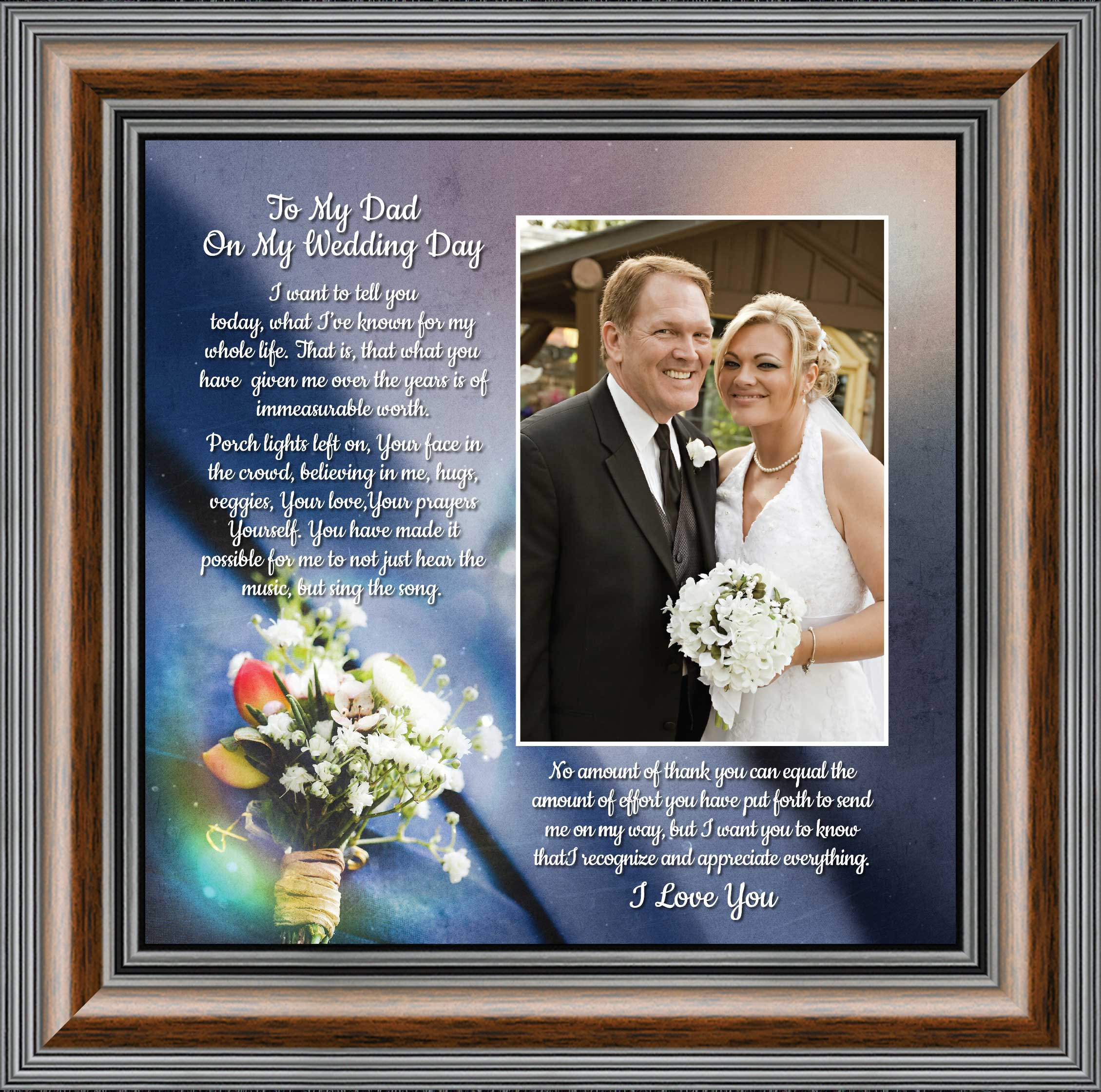 To My Dad On My Wedding Day Father Of The Bride Gifts Daddy