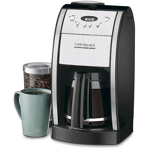 Cuisinart 12-Cup Grind & Brew Coffee Maker, DGB-550BK, Stainless Steel/Black, Refurbished