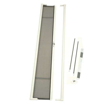 Log Cabin Door (ODL Brisa White Tall Retractable Screen for 96