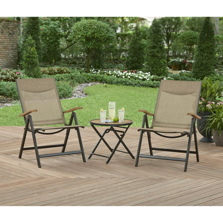 better homes and gardens quail ridge 3 piece outdoor bistro set
