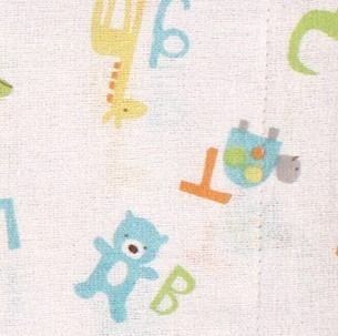 Luvable Friends Boy Flannel Burp Cloth 4-Pack Tribe