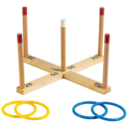 Franklin Sports Wooden Ring Toss - Cactus Ring Toss