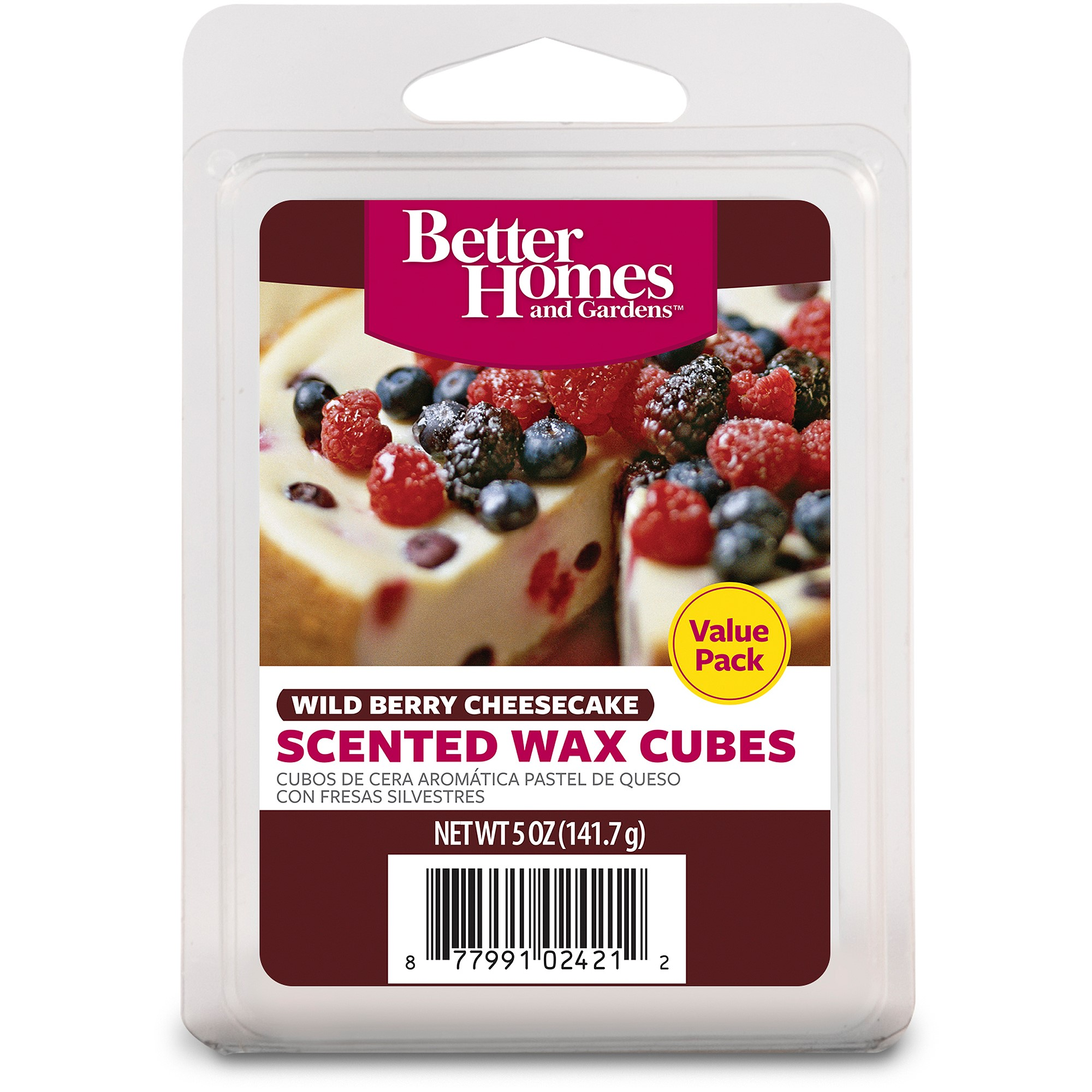 Better Homes and Gardens Value Wax Cubes, Wild Berry Cheesecake