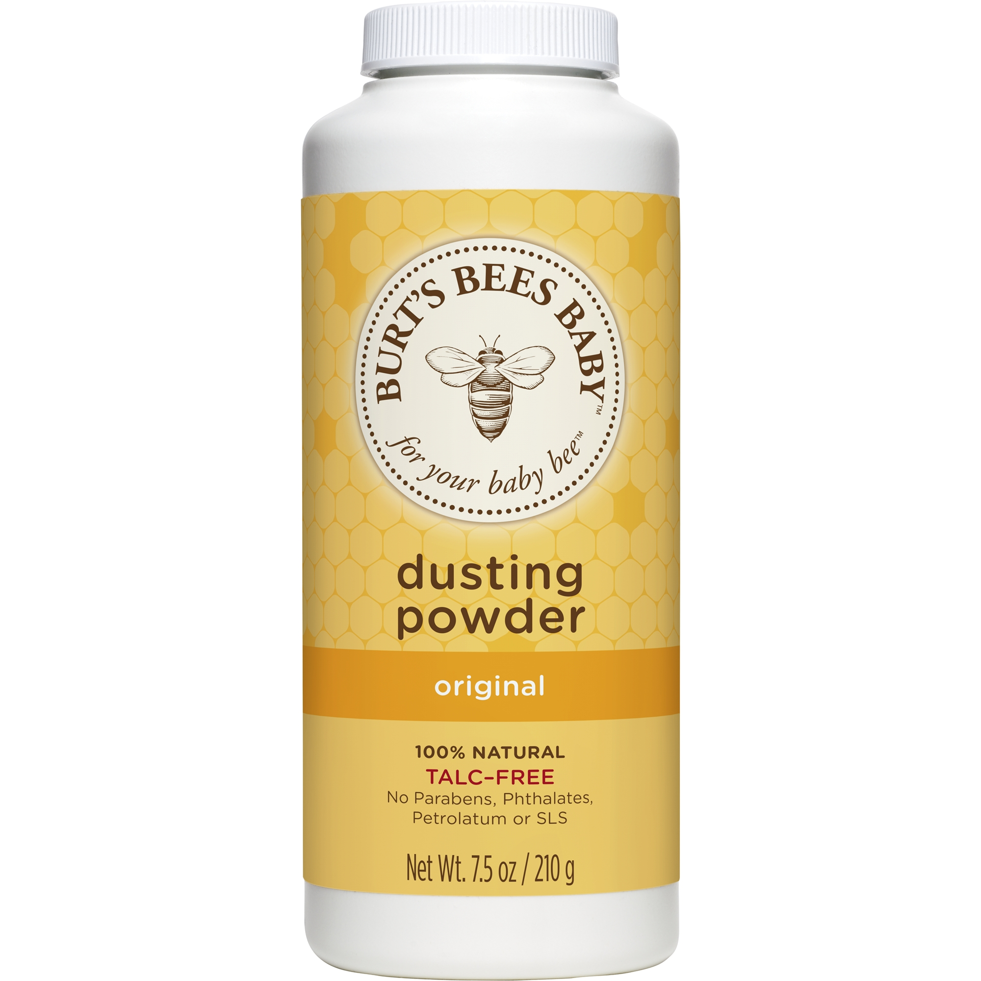 Burt's Bees Baby 100% Natural Dusting Powder, Talc-Free Baby Powder - 7.5 oz Bottle