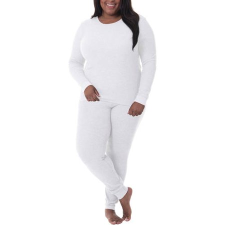 ee804999d8f248 Fit for Me by Fruit of the Loom - Fit for Me by Fruit of the Loom Women's  and Women's Plus Size Waffle Thermal Underwear Top and Pant Set -  Walmart.com