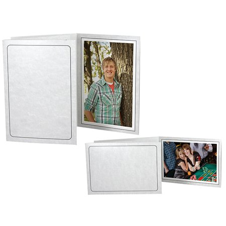 Printed Gray Marble 4x6 Event Photo Folders - Horizontal (25 Pack)