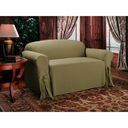 Texstyle kent tie sofa cover moss green walmartcom for Moss green sectional sofa