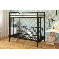 Dhp Twin Over Futon Metal Bunk Bed With Mattress Multiple Colors