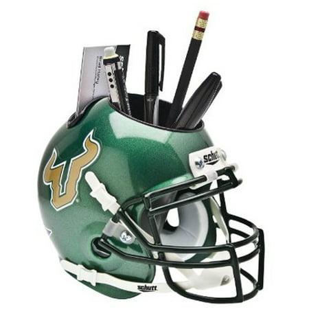 South Florida Bulls (Green) NCAA Football Schutt Mini Helmet Desk Caddy