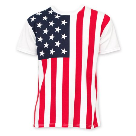 Redneck Rebel Flag T-shirt (American Flag Men's Tee Shirt )
