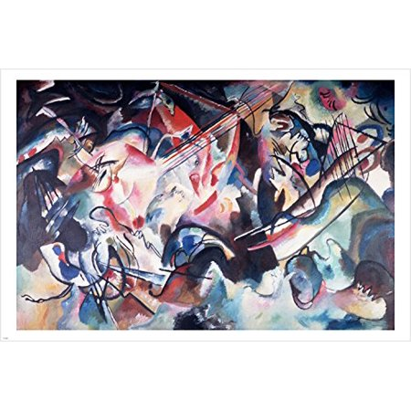 Vasily Kandinsky Composition Vi Fine Art Poster 24X36 Vibrant Abstract Style
