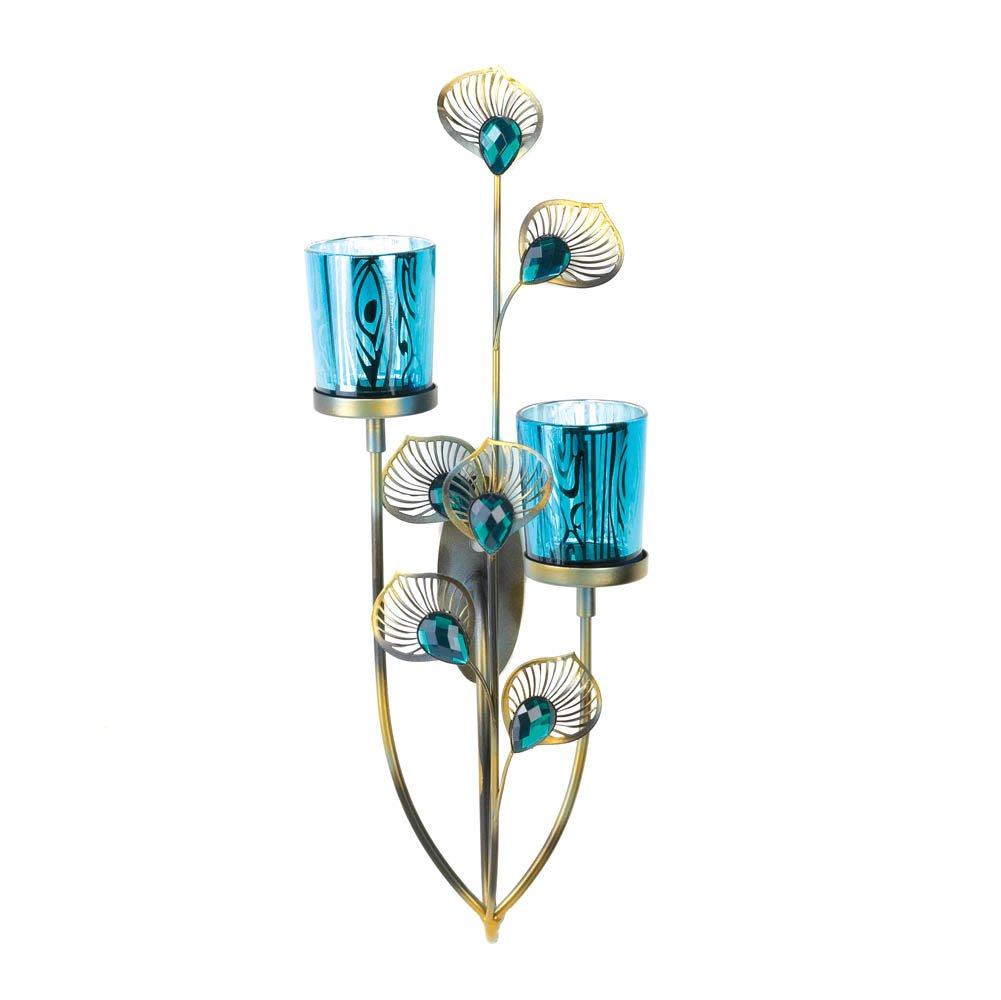 Wall Sconce Candle Holders, Modern Glass Metal Wall Candle Sconce by Gallery of Light