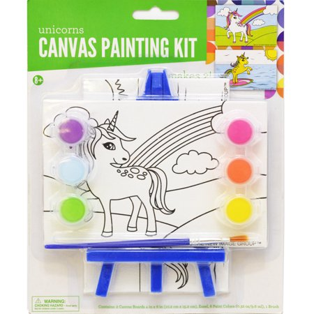 Kelly 39 s crafts canvas painting kit for Walmart arts and crafts paint