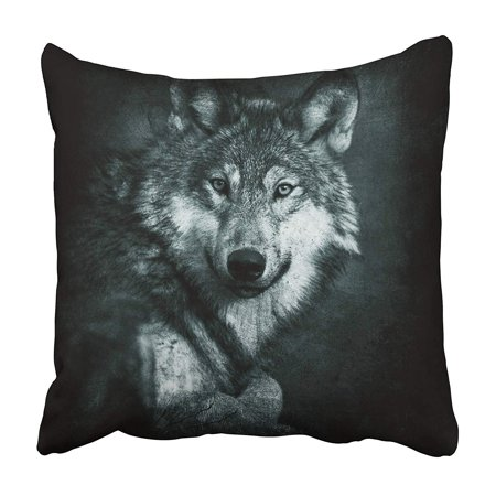 ARHOME Creepy 3D of Scary Ghost Wolf in The Dark Horror Mixed Media Death Demon Devil Evil Pillowcase 16x16 inch - Scary Demon