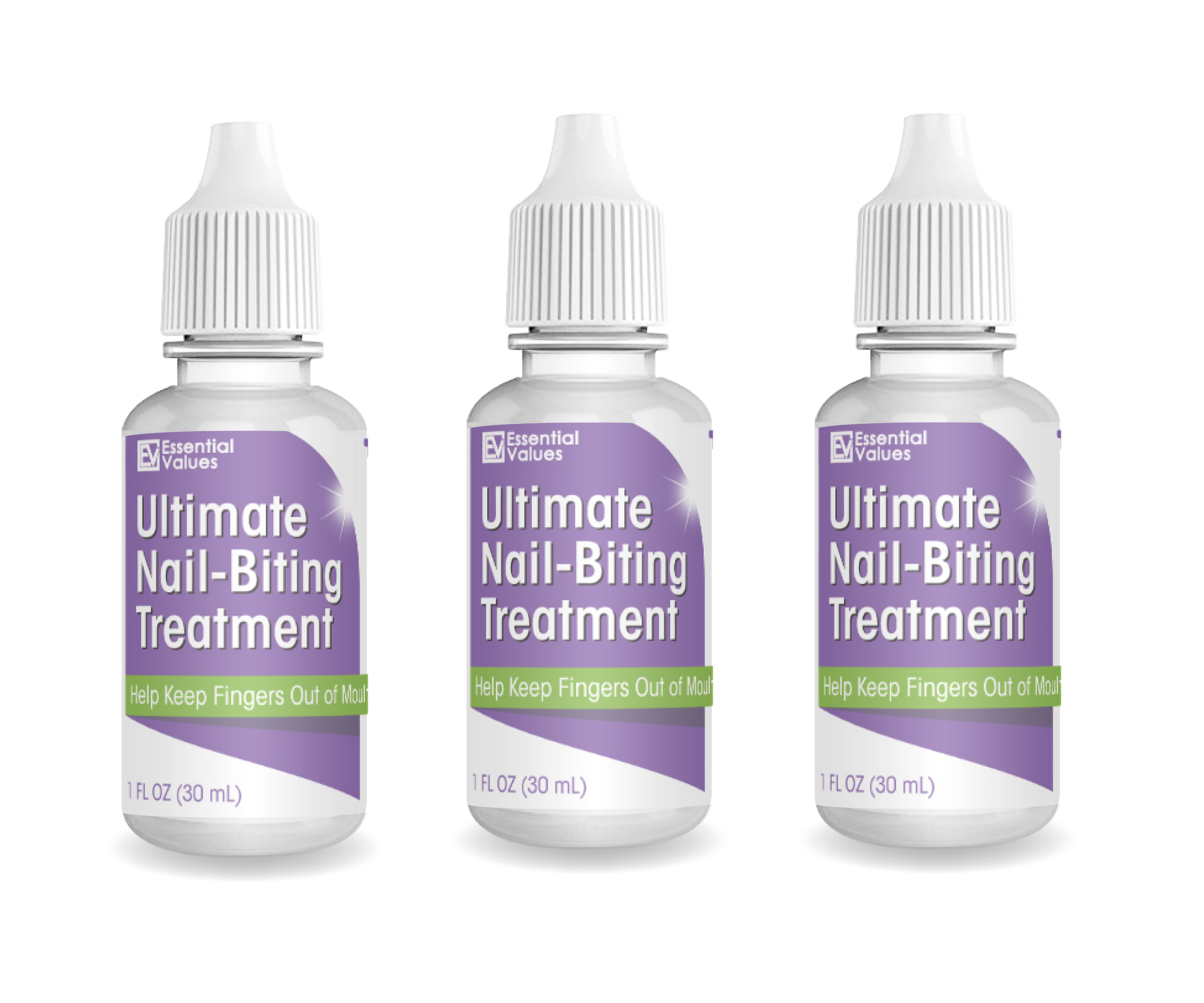 3 Pack Ultimate Nail-Biting Treatment 1 Fl Oz, Stop Nail -1123